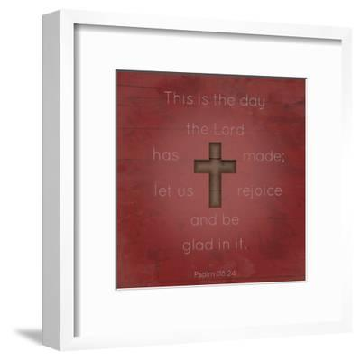 Psalm 118 24-Jace Grey-Framed Art Print