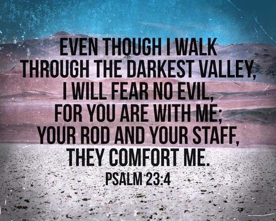 Psalm 23:4-Inspire Me-Art Print