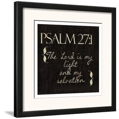 Psalm 27-1-Taylor Greene-Framed Art Print