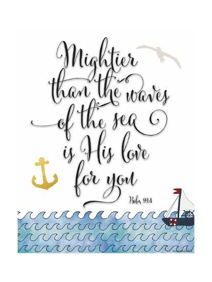 Psalm 93 4 Mightier Than the Waves-Tara Moss-Premium Giclee Print