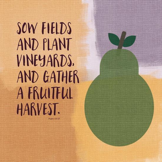 Psalm107 Fruitfulharvest-Linda Woods-Art Print