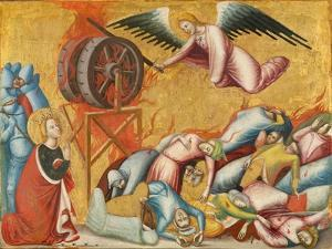 St. Catherine of Alexandria Freed from the Wheel, c.1325-1330 by Pseudo Jacopino di Francesco