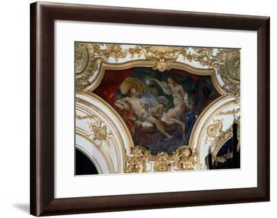 Psyche and Cupid, Ceiling Panel from the Salon de La Princesse-Charles Joseph Natoire-Framed Giclee Print