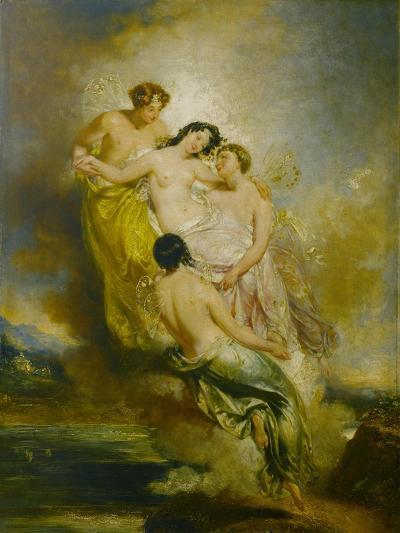 Psyche Conveyed by Zephyrs to the Valley of Pleasure, 1826-John Wood-Giclee Print