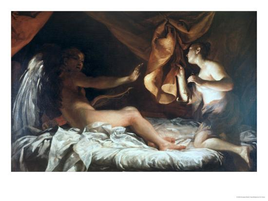 Psyche Discovers Cupid-Giuseppe Maria Crespi-Giclee Print