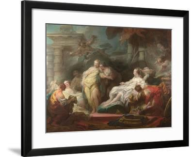 Psyche Showing Her Sisters Her Gifts from Cupid, 1753-Jean-Honor? Fragonard-Framed Giclee Print