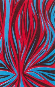 Psychedelic Pattern of Red and Blue