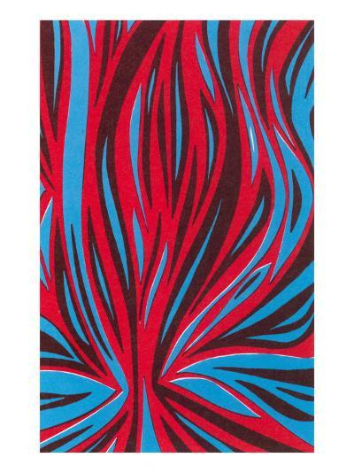 Psychedelic Pattern of Red and Blue--Art Print
