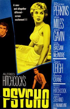 Psycho, Anthony Perkins, Janet Leigh, John Gavin, 1960