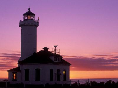 Pt Wilson Lighthouse, Entrance to Admiralty Inlet, Washington, USA-Jamie & Judy Wild-Photographic Print