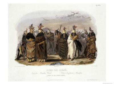 Ptihn-Tak-Ochata, Dance of the Mandan Women-Karl Bodmer-Giclee Print