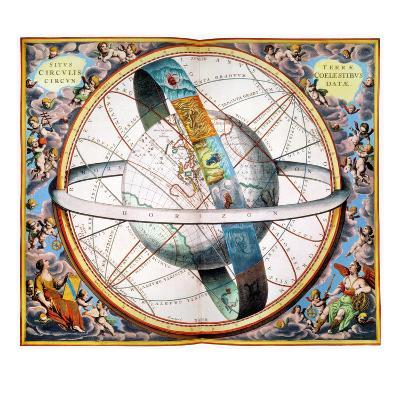 Ptolemaic Universe, 1660-Andreas Cellarius-Giclee Print