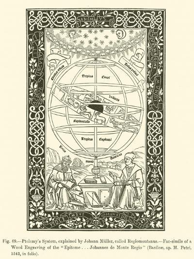 Ptolemy's System, Explained by Johann Muller, Called Regiomontanus--Giclee Print