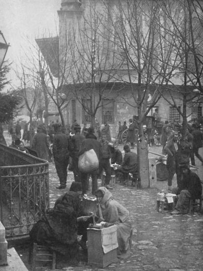 'Public Letter-writers in a Constantinople Street', 1913-Unknown-Photographic Print