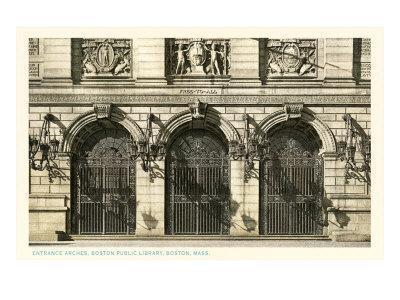 Public Library, Boston, Mass.--Art Print