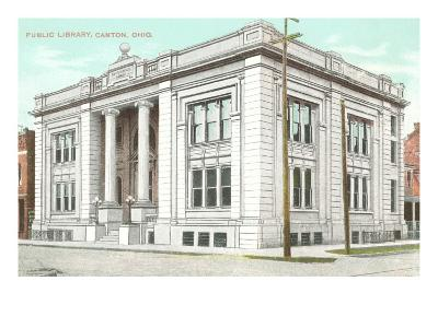 Public Library, Canton, Ohio--Art Print