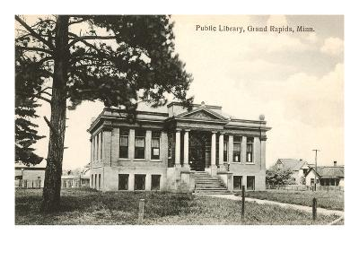 Public Library, Grand Rapids, Minnesota--Art Print