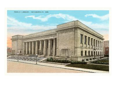 Public Library, Indianapolis, Indiana--Art Print