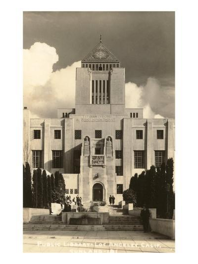 Public Library, Los Angeles, California--Art Print