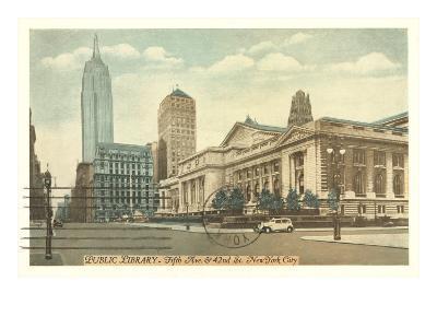 Public Library, New York City--Art Print