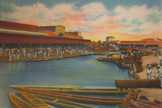 'Public Market, Barranquilla', c1940s-Unknown-Giclee Print