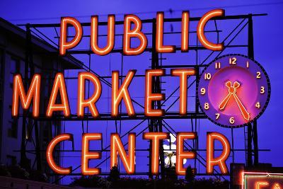 Public Market Sign II-Bob Stefko-Photographic Print