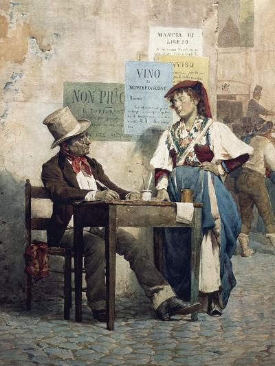 Public Scribe, Italy, 19th Century--Giclee Print