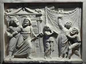 Roman Civilization, Relief of Theatre Scene from Comedy 'Andria' by Publius Terentius Afer
