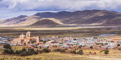 Pucara Seen from Pukara Inca Ruins, Puno Region, Peru, South America-Matthew Williams-Ellis-Photographic Print