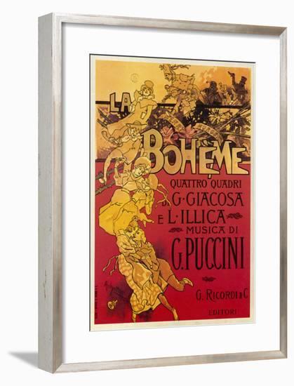 Puccini, La Boheme-Adolfo Hohenstein-Framed Premium Giclee Print