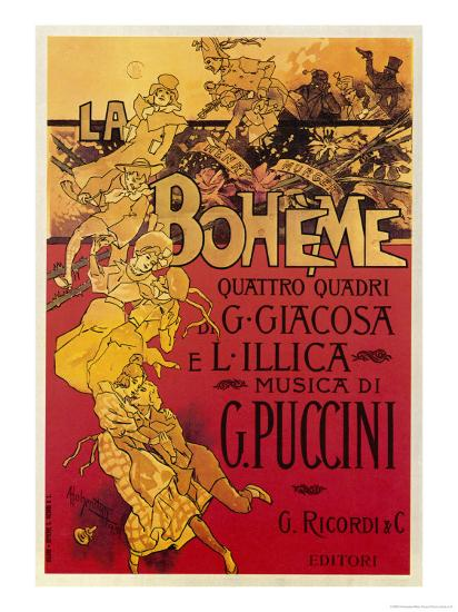 Puccini, La Boheme-Adolfo Hohenstein-Giclee Print