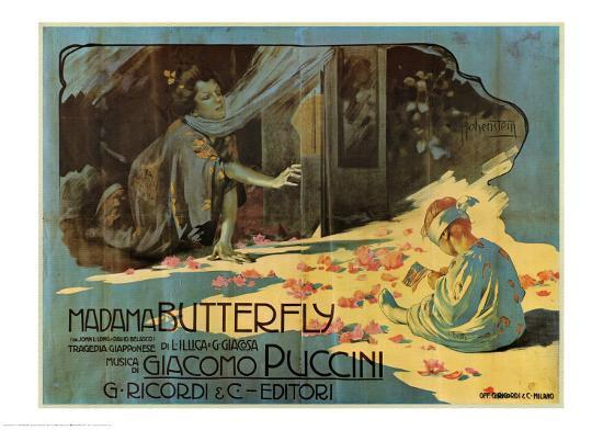 Puccini, Madama Butterfly-Adolfo Hohenstein-Art Print