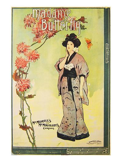 Puccini Opera Madame Butterfly--Art Print