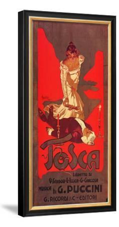 Puccini, Tosca-Adolfo Hohenstein-Framed Art Print