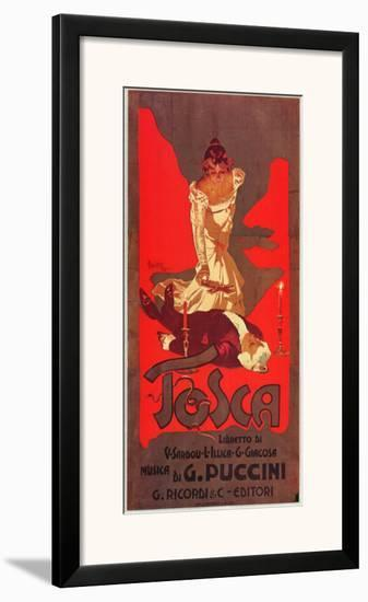 Puccini, Tosca-Adolfo Hohenstein-Framed Art Print