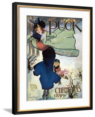 Puck Christmas 1899-Frank A. Nankivel-Framed Art Print
