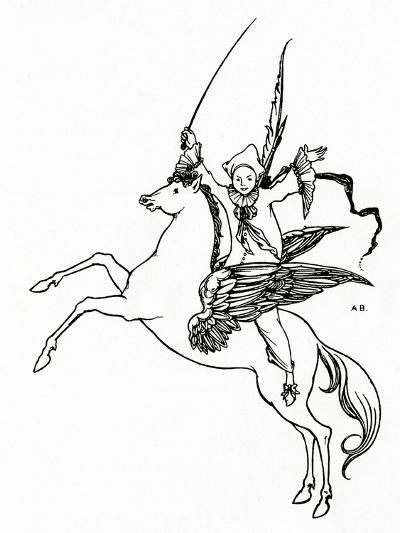 Puck on Pegasus, 1894-Aubrey Beardsley-Giclee Print