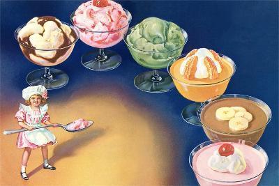 Puddings and Ice Cream--Art Print