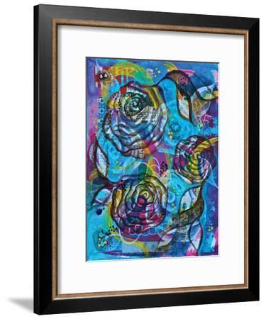Pueblo Roses II-Pam Varacek-Framed Art Print