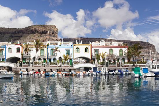Puerto De Mogan, Gran Canaria, Canary Islands, Spain, Atlantic, Europe-Markus Lange-Photographic Print