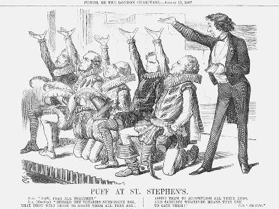Puff at St Stephen'S, 1867-John Tenniel-Giclee Print