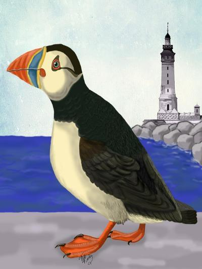 Puffin On the Quay-Fab Funky-Art Print