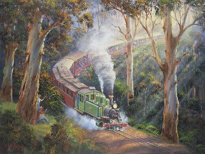 Puffing Billy in Sherbrook Forest-John Bradley-Giclee Print