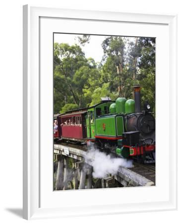 Puffing Billy Steam Train, Dandenong Ranges, near Melbourne, Victoria, Australia-David Wall-Framed Photographic Print