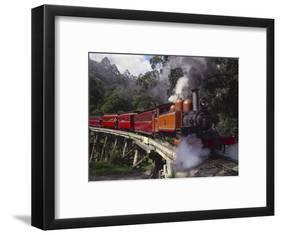 Puffing Billy Train, Mt. Dandenong, Australia-Douglas Peebles-Framed Photographic Print