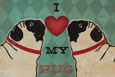 Pug and Pug - I Love My Pug-Ryan Fowler-Art Print