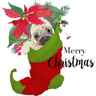 Pug Christmas-Edith Jackson-Art Print