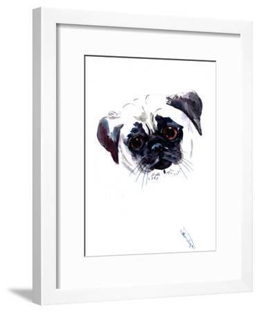 Pug Face 1-Suren Nersisyan-Framed Art Print