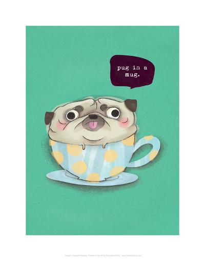 Pug in a mug - Hannah Stephey Cartoon Dog Print-Hannah Stephey-Art Print
