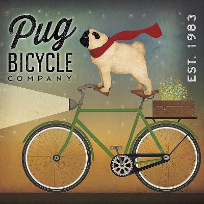 Pug on a Bike-Ryan Fowler-Art Print